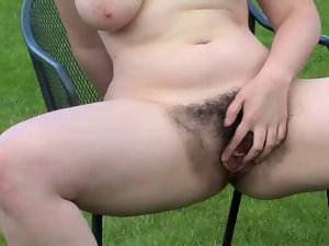 venus walks everywhere the orchard exposes her succulent unshaved wet crack