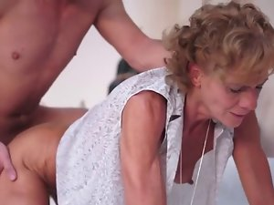 Slender granny group-fucked by a 18yo chap