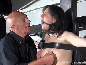 Gagged serf Probity Cabelleros erotic domination and nipp