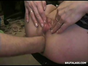 One time subrigid breathtaking anal destroyed by coarse fisting and rubber toy
