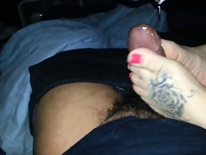 Footjob Cumpilation