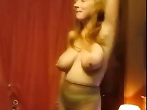 Buxom Lustful wife Topless Tease