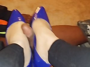Hose and Flats BBC Footjob Shoejob 1
