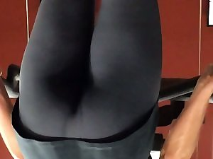 Terrific gymnastics bum wedgie 2