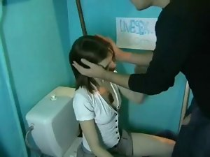 Cherished youthful feminine bangs and licks a blind masculine