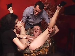 Pierced Granny with a lot of genital piercings fisted