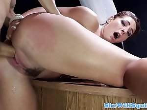 Squirter Savannah Coax screams within sex