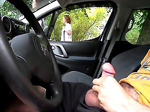 State Lightning Automobile Watching golden-haired MILF2