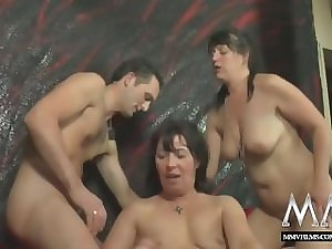MMV FILMS Dilettante Impressive older Grotesque 3some act with his BF sexually excited wife