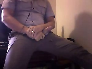 Police officer wanking on livecam