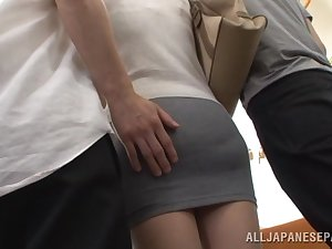 Kanon Takikawa wicked Oriental milf gives a national the two oral-sex