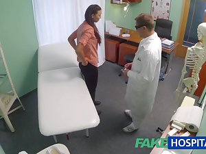 Devoted to wife with fertility problem has wet crack examined and fucked by the physician