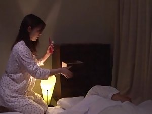 Bizarre anal work with toys and schlong for aged Jun Sena