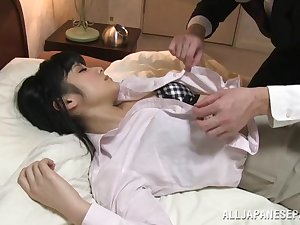 Chika Hirako hawt Japanese office virgin nuce boy