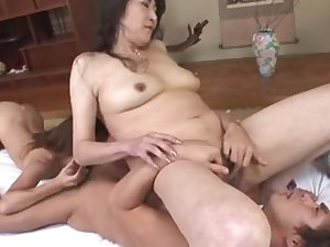 Hirsute Japanese Milfs fucked and creamed by a fellow