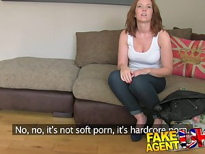 FakeAgentUK: Handsome sorrel acquires surprise creampie in fake casting
