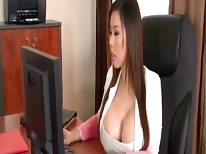 Breasty Office 3some