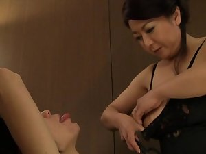 Breasty sexy older Oriental sweetheart is a bossy woman over a period of sex
