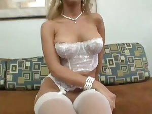 Sexy Golden-Haired Toys With Her Vagina Next Toys With A Tough Ramrod