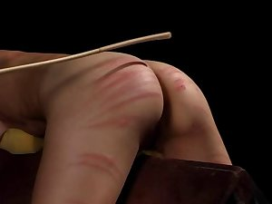 Perverted jades enjoying S&m caning and thrashing