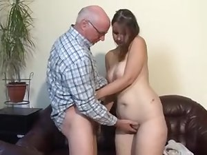 Fat german young lady screwed by grand-dad