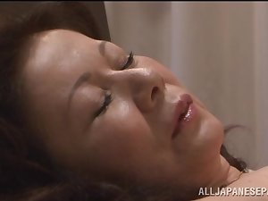 Chizuru Iwasaki sexy older Oriental honey is drilled difficult
