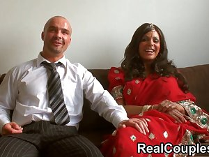 Desi Indian is pounded difficult by husband