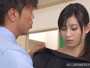 Barefaced Japanese coach Mira Tamana screwed by concupiscent fellows