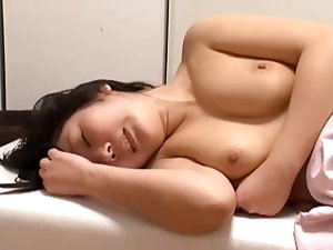 Golden-haired Japanese chick acquires drilled over a period of a massage