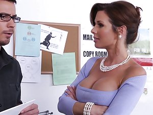 Learning from his breasty boss