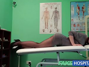 FakeHospital G defect massage receives sexy dark brown juicy