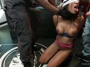 Lexington Steele Drags His Fresh Jade to an Interracial Fuck Fest!