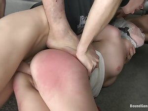 Triple Penetration! Either Anal! Russian Gal with Gaping Butthole!!