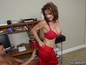Considering that we are total alone... with breasty Mrs. Deauxma