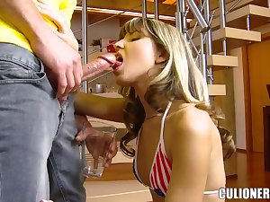 Diminutive taut butt young Gina Gerson does unfathomable face hole