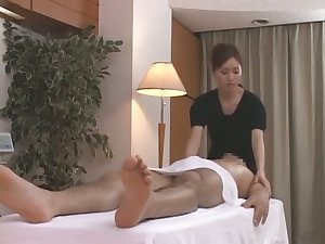 Oral-service next Japanese massage