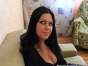 Huge cleavage on screwed chiken maiden