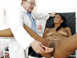 Vagina exam includes pissing tryout