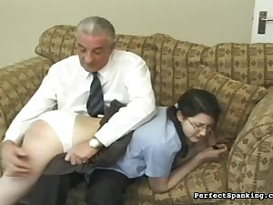 Misbehavior acquires a schoolgirl spanked