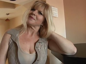Breasty aged milf Day spring Jilling is masturbating