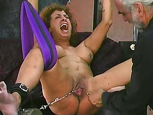 Kinky older living abased ans spanked with ache