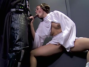 Allie Haze covenants Darth Vader's massive darksome schlong