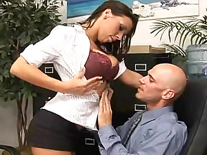 Rachel Starr office sex with cum on scoops