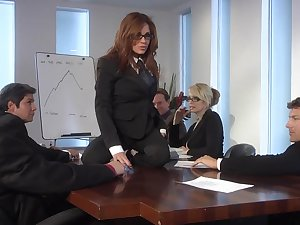 Hardcore office bang with skinny models