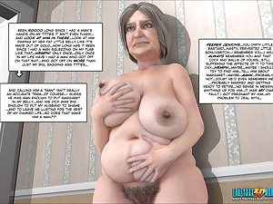3D oral-service by a slim granny in HD