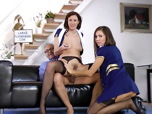 Grand-dad Ananter fuck with skillful Lara Latex