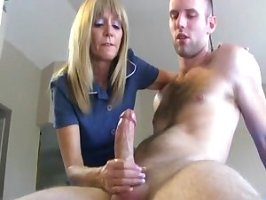 Slim golden-haired is engulfing this worthwhile wide cock