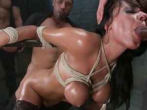 Anal gang group-sex in prison for breasty Anissa Kate