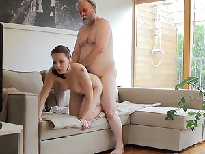 Ilona is fucking with senior in obverse her cuckold