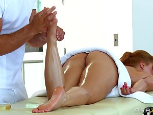 Katja Kassin massage and footjob